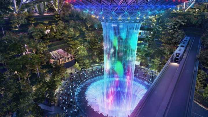 Melhor aeroporto do mundo terá labirintos floresta e 'cachoeira'