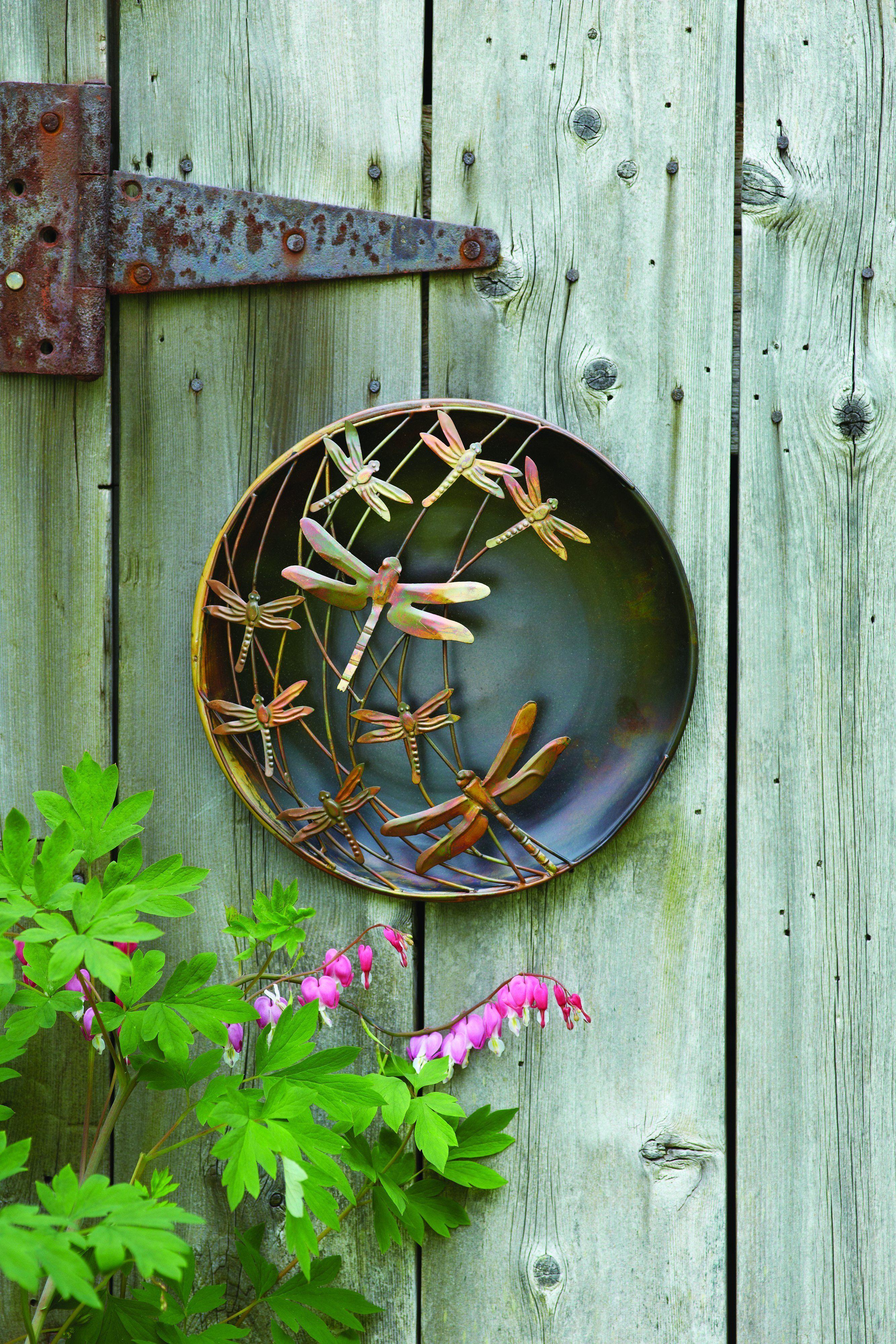 Raised dragonflies wall decor disc art pinterest metal wall