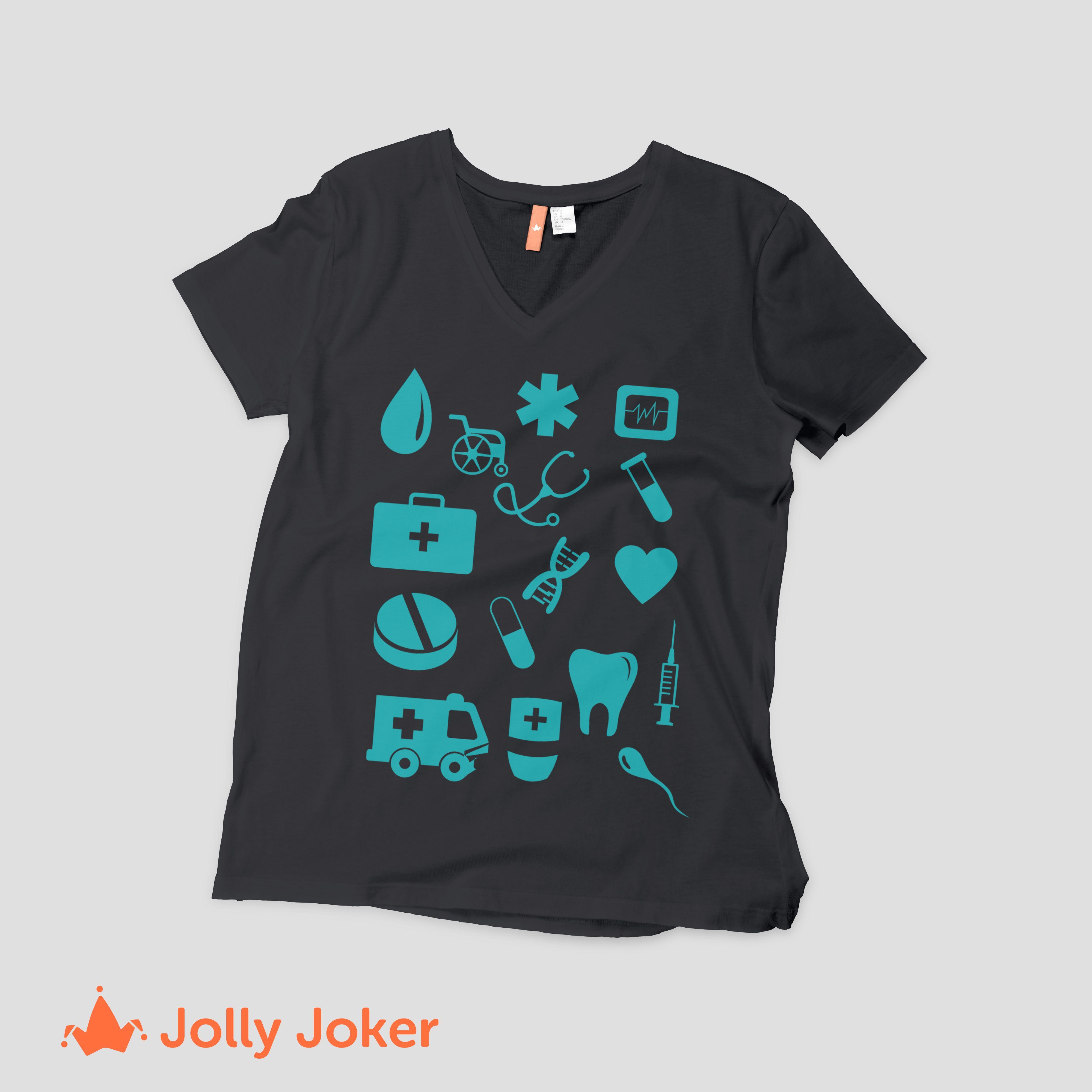 Jolly Joker te permite diseñar tus camisetas exactamente cómo deseas en  nuestro diseñador en línea. Estampado de camisetas de Enfermería aquí  jollyjoker.co f5a21bd03bf25