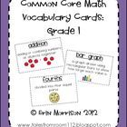 Help your students learn the vocabulary in the new common core math standards using these vocab cards. Just print, laminate, teach, and hang on you...
