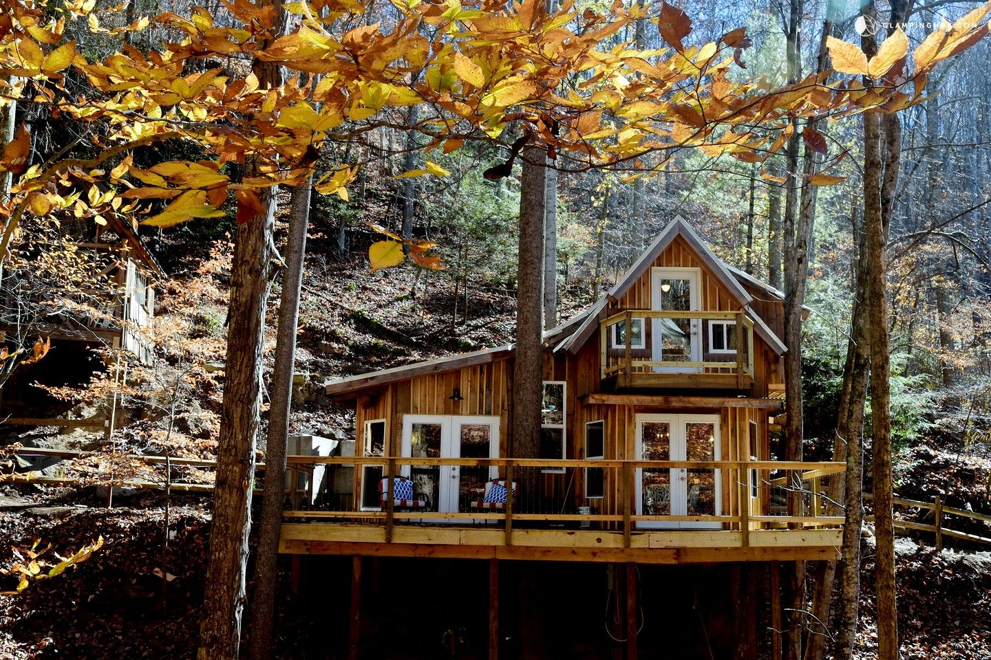 Eco-Friendly Elevated Cabin Rental for Tree House Experience