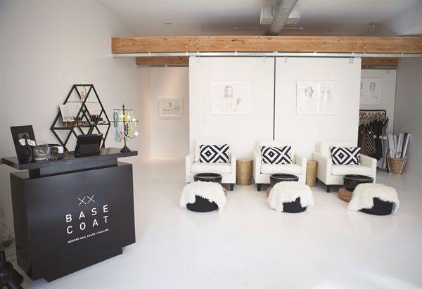 The neutral decor at base coat nail salon is inviting to - Base coat nail salon ...