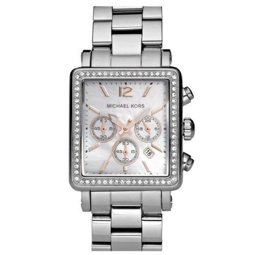 Michael Kors Quartz Mother of Pearl Dial Silver Band - Women's Watch MK5350 Michael Kors. $206.22. Mother of Pearl Dial, Date Window, Number & Stick indices. Polished Stainless Steel Bracelet & Case.. Quartz movement. Chronograph With Three Subdials, Logo and Date Window. Bezel crystallized with Swarovski. Save 18%!