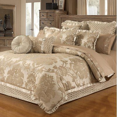 Astoria Grand Waut Blossom 6 Piece Lux Jacquard Comforter Set | Wayfair