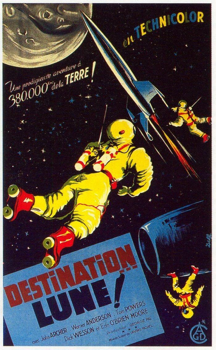 Destination... Lune ! : destination..., Destination, (1950), Oscar, Films,, Science, Fiction,, Fiction
