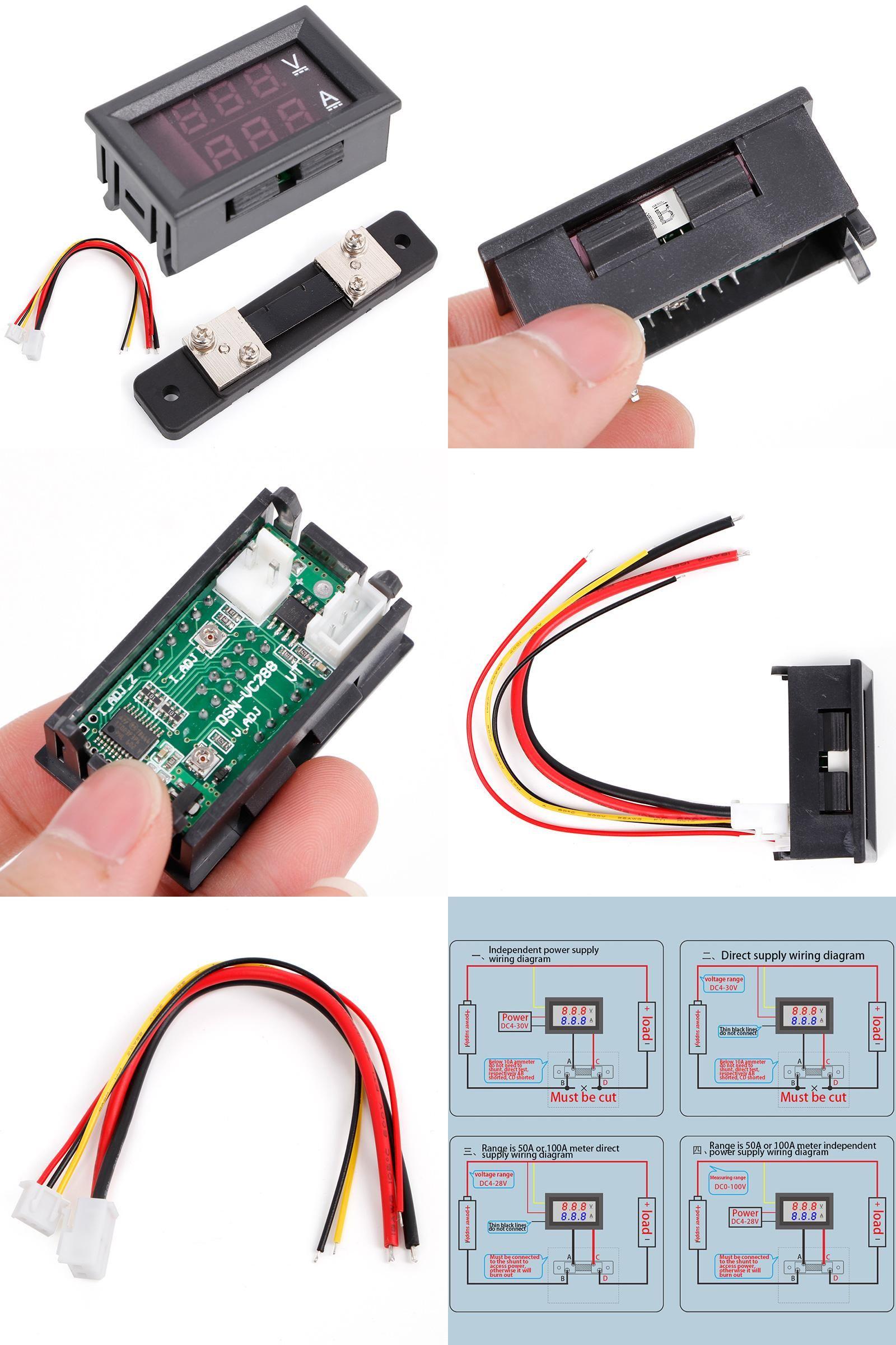 medium resolution of  visit to buy 0 100v 50a red blue digital voltmeter ammeter 2in1
