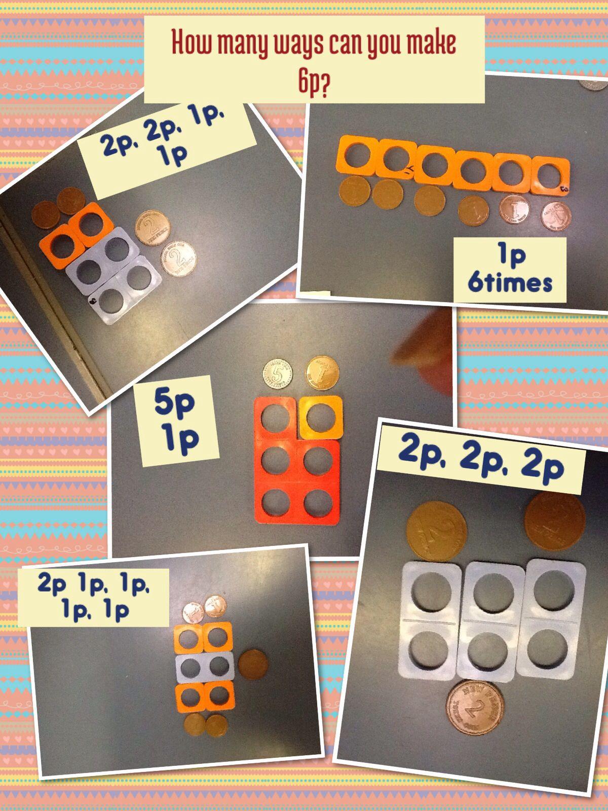 money problem solving making 6p finding different ways homeschool maths eyfs math numicon. Black Bedroom Furniture Sets. Home Design Ideas