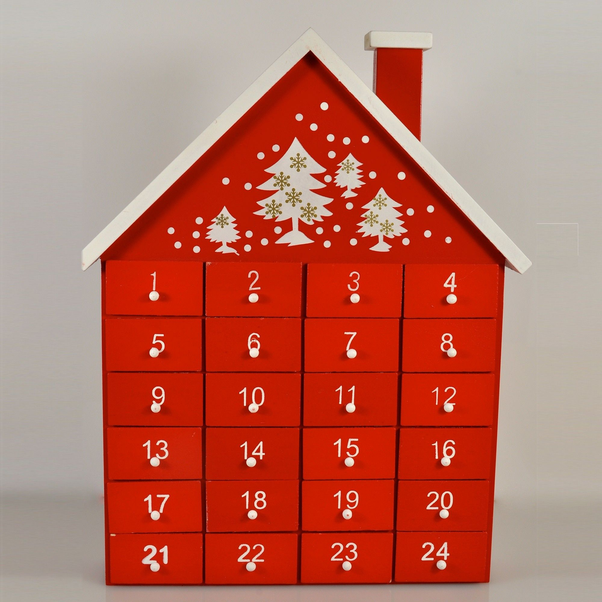 Wood Advent Calendar House Free Uk Delivery