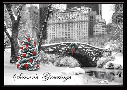 Central park bridge plaza hotel ny regional card the fancy the fancy envelope beautiful high quality holiday cards for individuals and businesses reheart Gallery