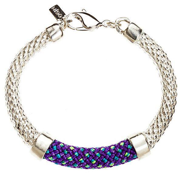One Kings Lane Designer Jewelry Crosby Bracelet SilverPurple