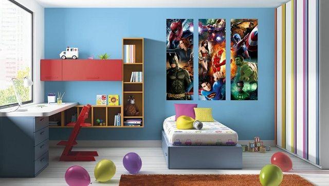 Dormitorios infantiles de superh roes habitaci n - Dormitorios pequenos para ninos ...