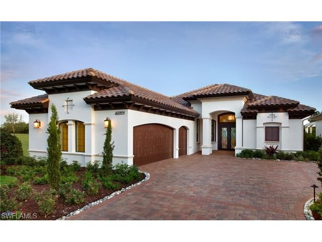 Harborside's newest model home in Talis Park - the Aviano.  Talis Park is one of Naples most prestigious golf communities - driving through the neighborhood is like driving through the Italian countryside.  A true must see.