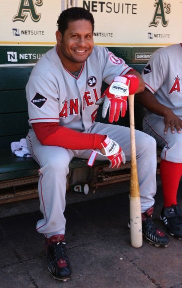 Bobby Abreu Laa July 19 2009 At Oak Angels Baseball Baseball Major League Baseball