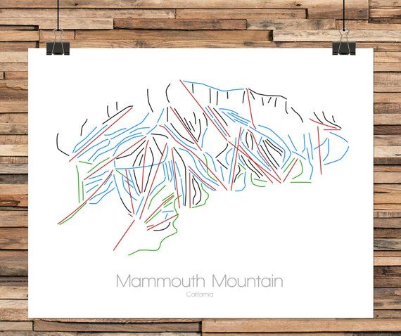 Mammoth Mountain California Map.Mammoth California Mammoth Mountain Mammoth Trail Map Mammoth Ca