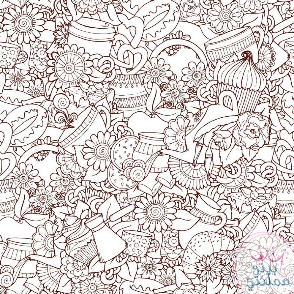 رسم تلوين للكبار تلوين Coloring Pages Coloring Cool Coloring Pages Cute Coloring Pages Coloring Books