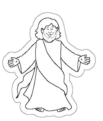 This is an image of Mesmerizing Jesus Coloring Print Out