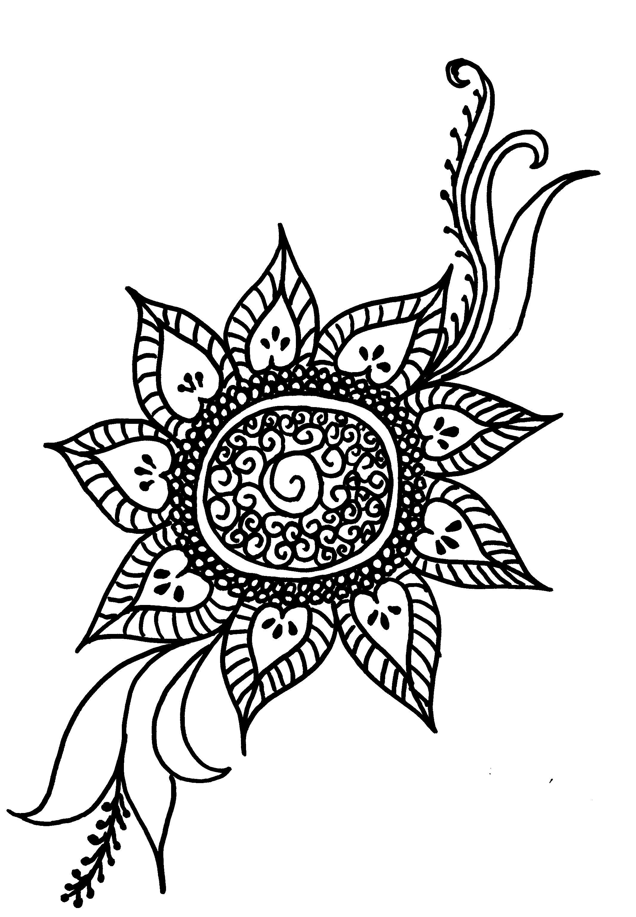 Sunflower005 Art Journal Henna Henna Designs Tattoos