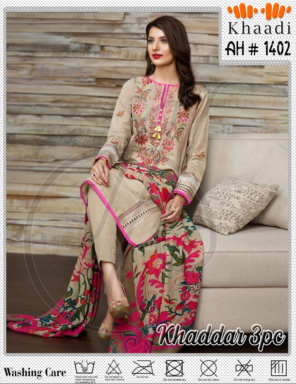 Latest Khaddar Embroidered Suit For Women Ready to Ship