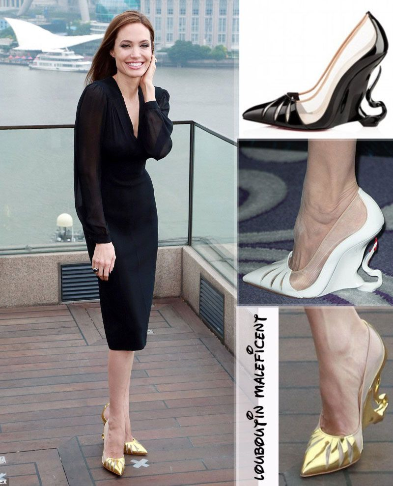 8053a791e000 Angelina Jolie shoes Louboutin Maleficent special collection ...