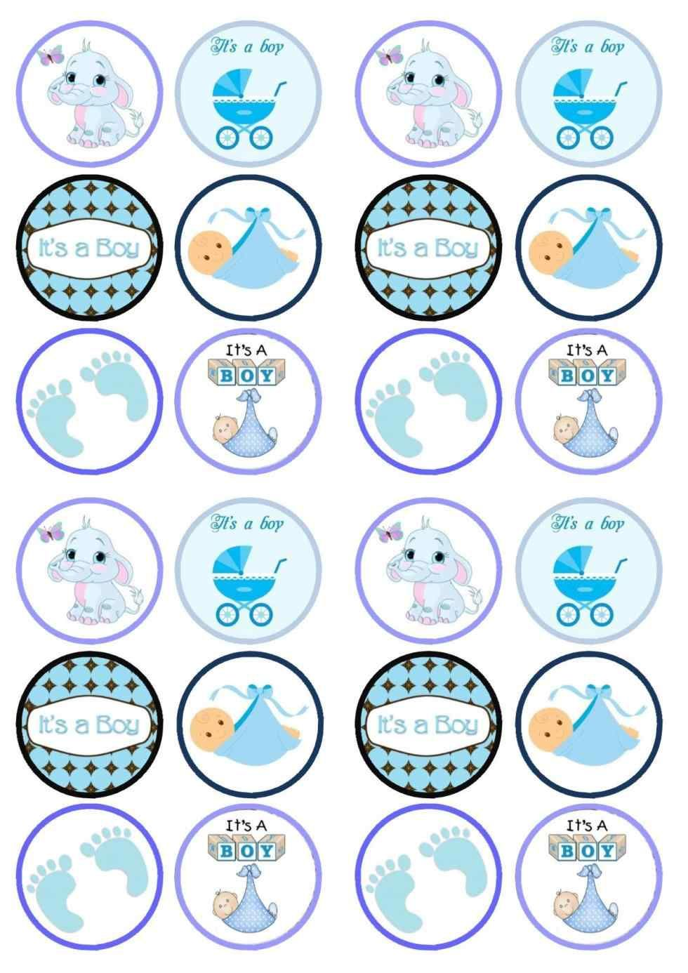 Cupcake Toppers Baby Shower Baby Boy Shower Cupcake Toppers Part