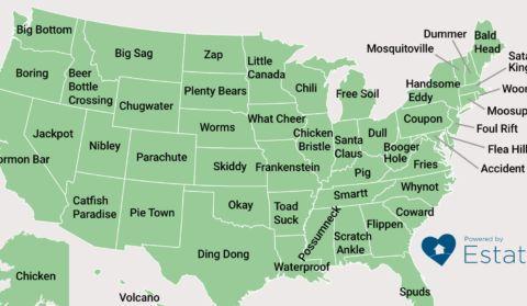 De Big Bottom à Ding Dong, la carte des noms de ville les plus bizarres des États-Unis
