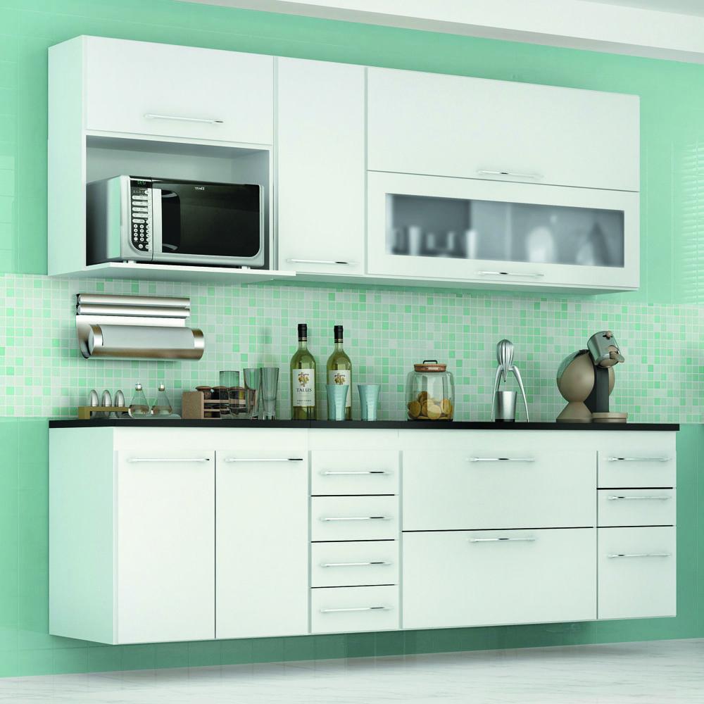 Cozinha Modulado Granito 07 Pe As Branco Gelius Cozinha Completa