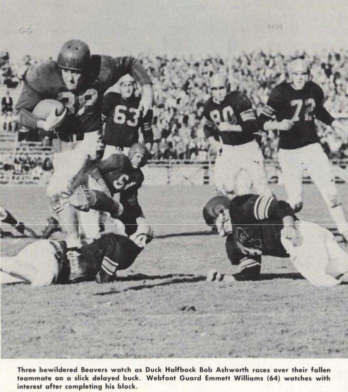 1946 Civil War Football Game Oregon State Oregon At Hayward Field From The 1947 Oregana University Of Oregon Yearb With Images University Of Oregon Oregon State Oregon