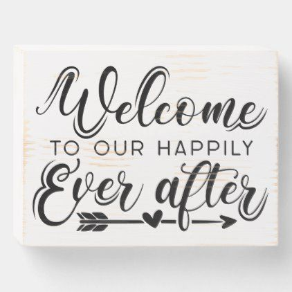 Happily Ever After Country Rustic Wedding Sign | Zazzle.com