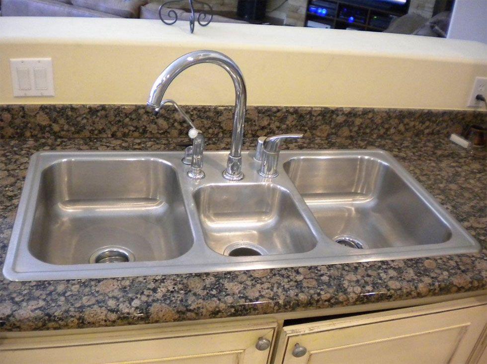 topMount before1. (980×733)   Top mount kitchen sink, Sink