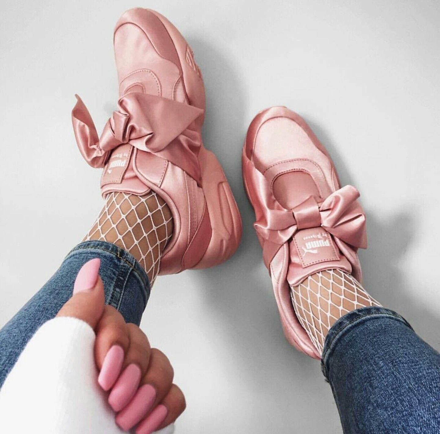 puma bow sneaker rosa