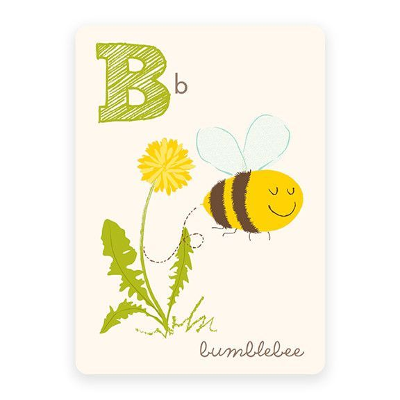 Bumblebee | ABC Card | Bee art and Characters