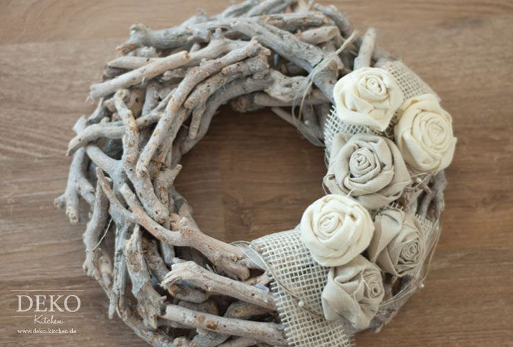 Photo of DIY: Fabric roses in Shabby chic style