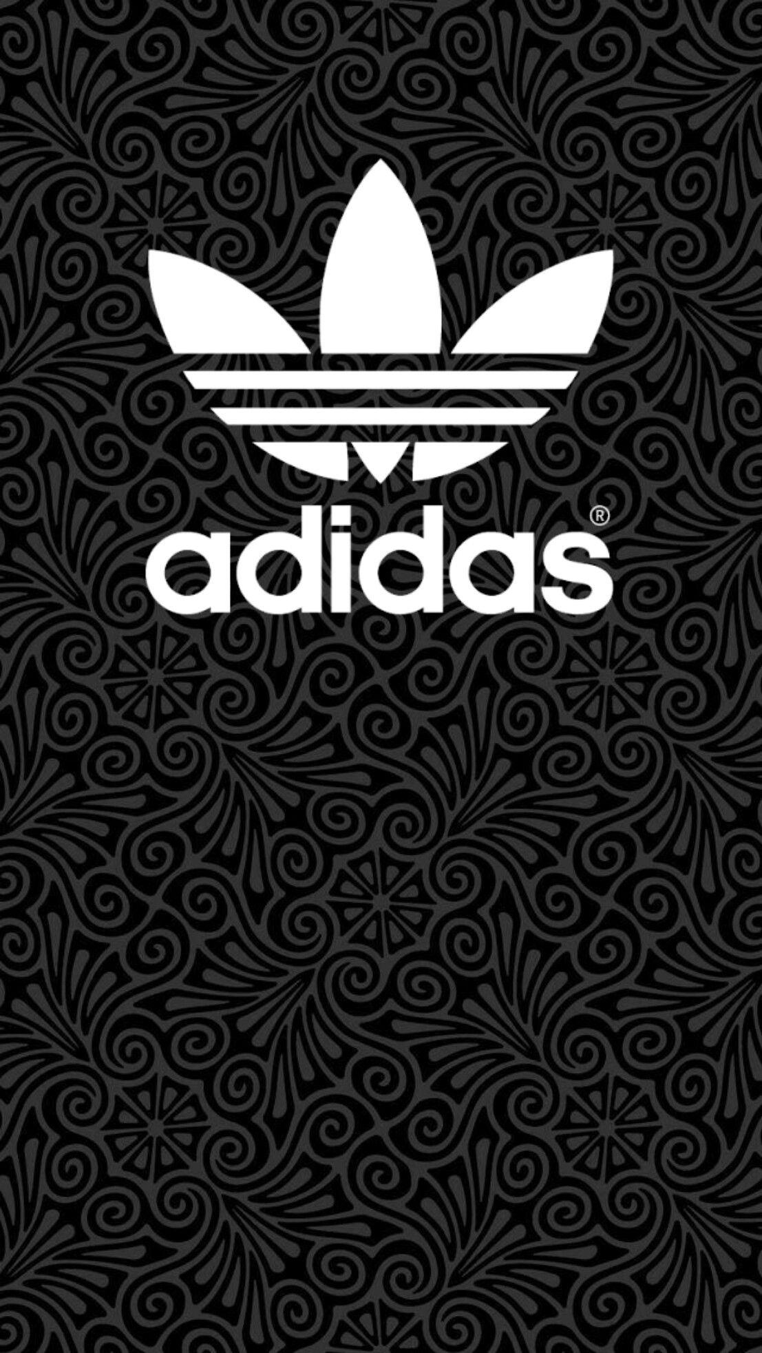Adidas Logo White Wallpaper Background Screensaver Adidas Black