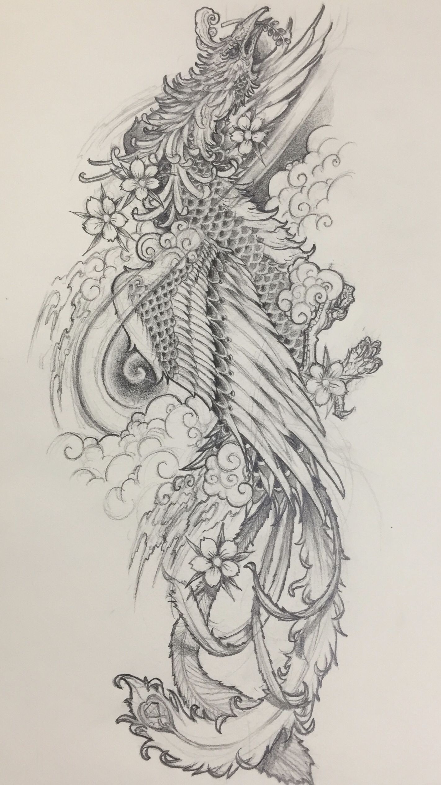 Japanese Phoenix Tattoo Design From Kingston Chan Concept Ink Visit Http Instagram Com Kingstonart For More Y Tưởng Hinh Xăm Hinh Xăm Nhật Hinh Xăm Mực