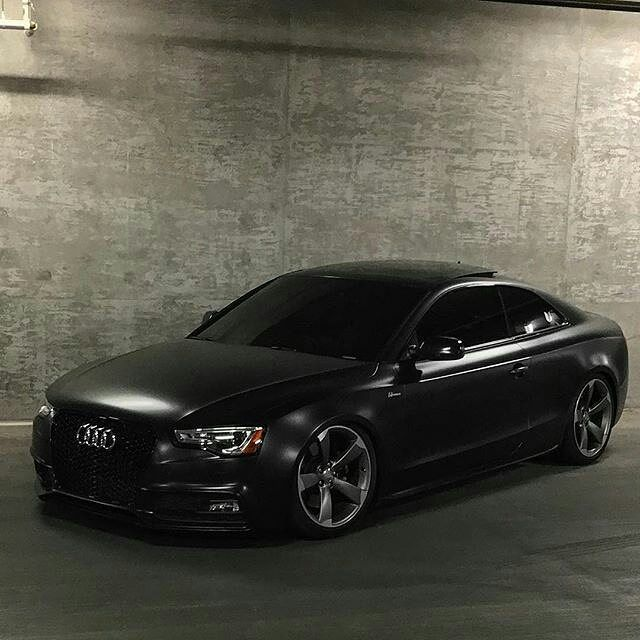 All Black Audi S5 On Rotors! By: @audis5fx For More Audi