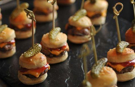 recettes apero dinatoire rapide mini hamburgers goreception plat salee pinterest. Black Bedroom Furniture Sets. Home Design Ideas