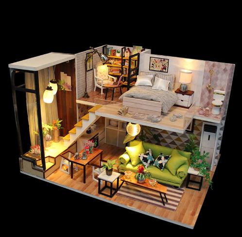 Diy Toy Classic Penthaus Miniature Dollhouse Dollhouse Miniatures Diy Dolls House Interiors Tiny House Design