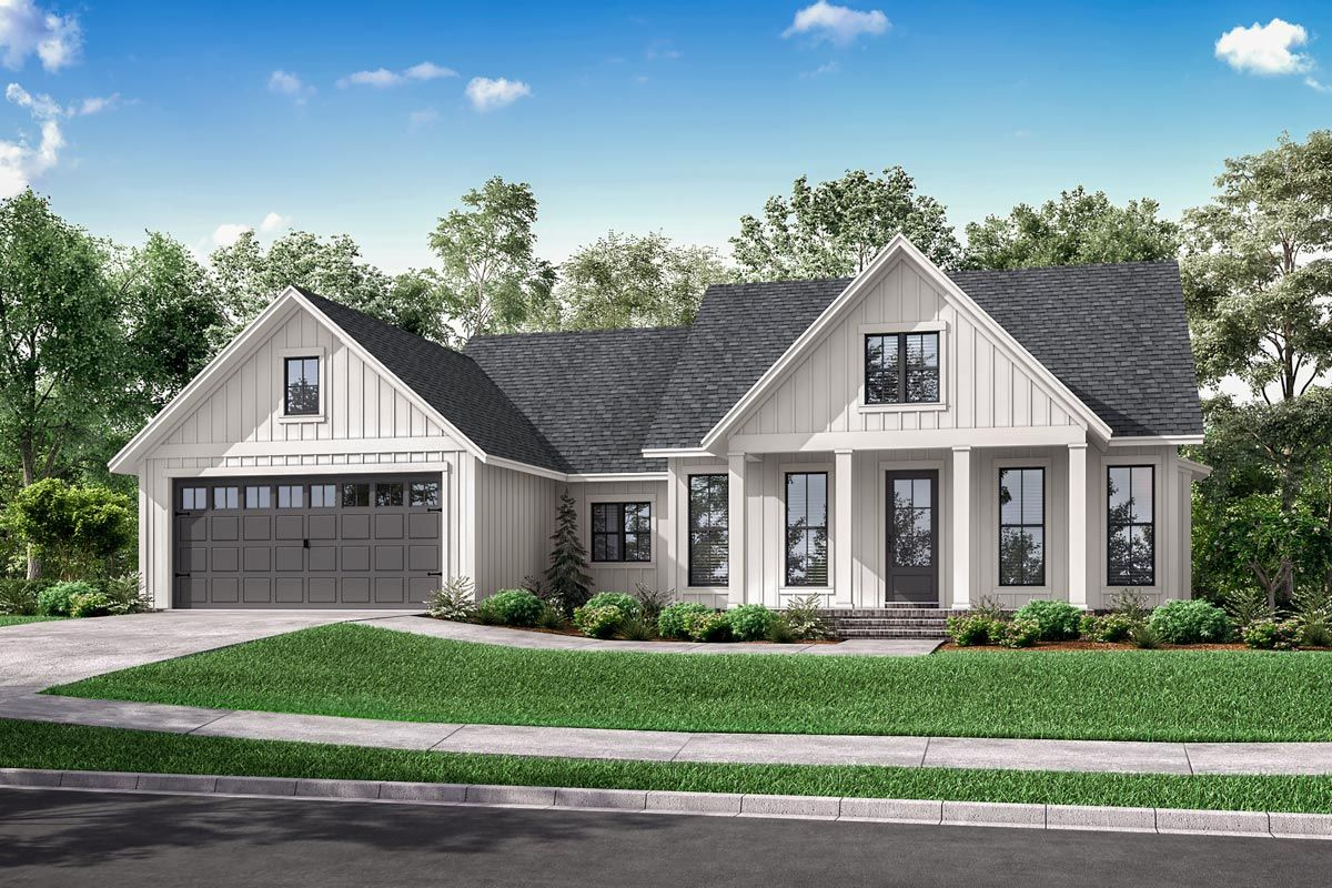 One-Story Modern Farmhouse Plan with Open Concept Living - 51829HZ | Architectural Designs - House Plans