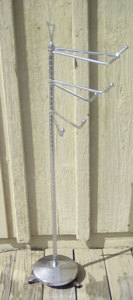 Mid Century Modern Chrome Free Standing Towel Rack Cool
