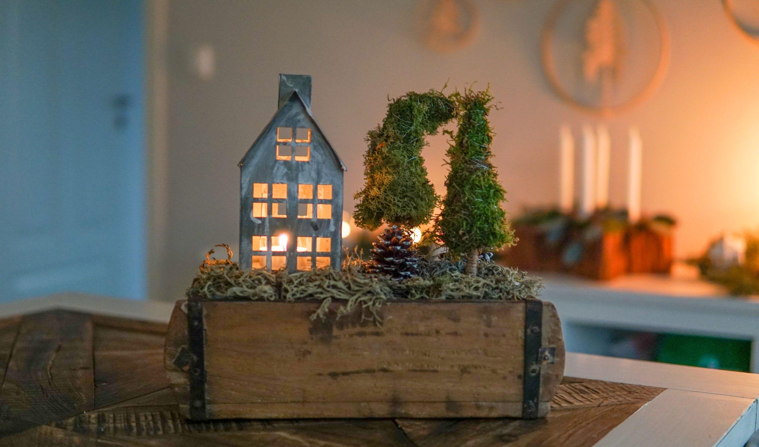 DIY Winterdeko in der alten Ziegelform – Deko-Hus