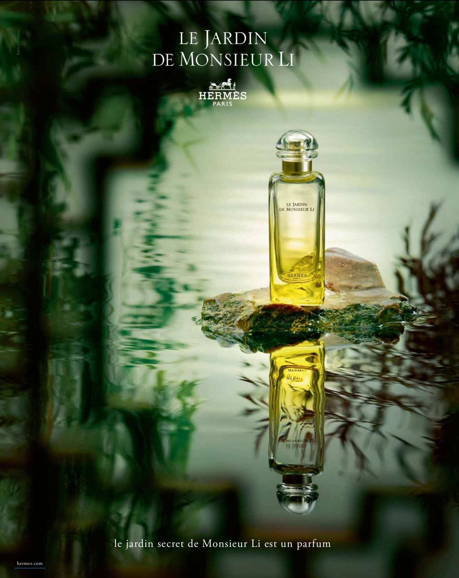 Hermes fragrance le jardin de monsieur li advertising - Hermes un jardin en mediterranee body lotion ...