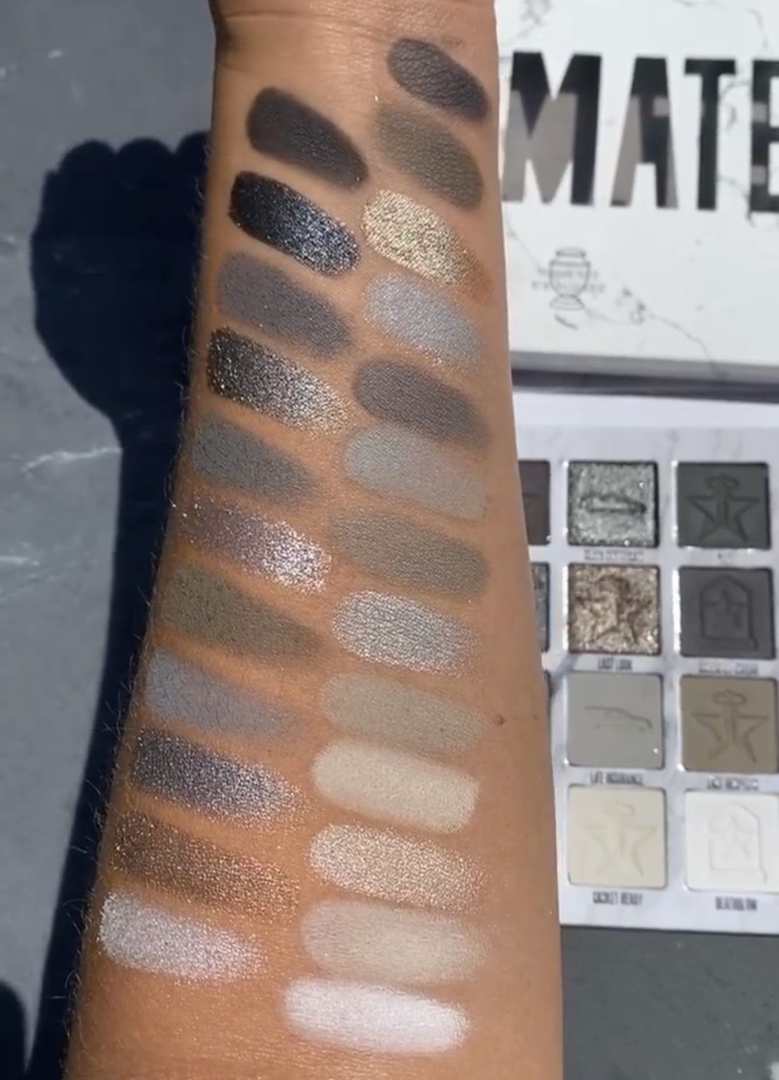 Jeffree Star Cremated Eyeshadow Palette and Collection