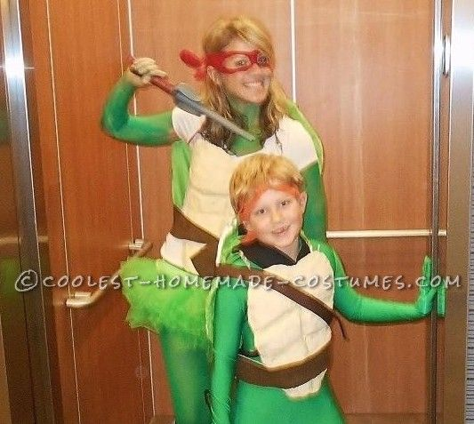 8112e3e1eff2d Coolest Mom And Son Ninja Turtles Costumes... Coolest Halloween Costume  Contest