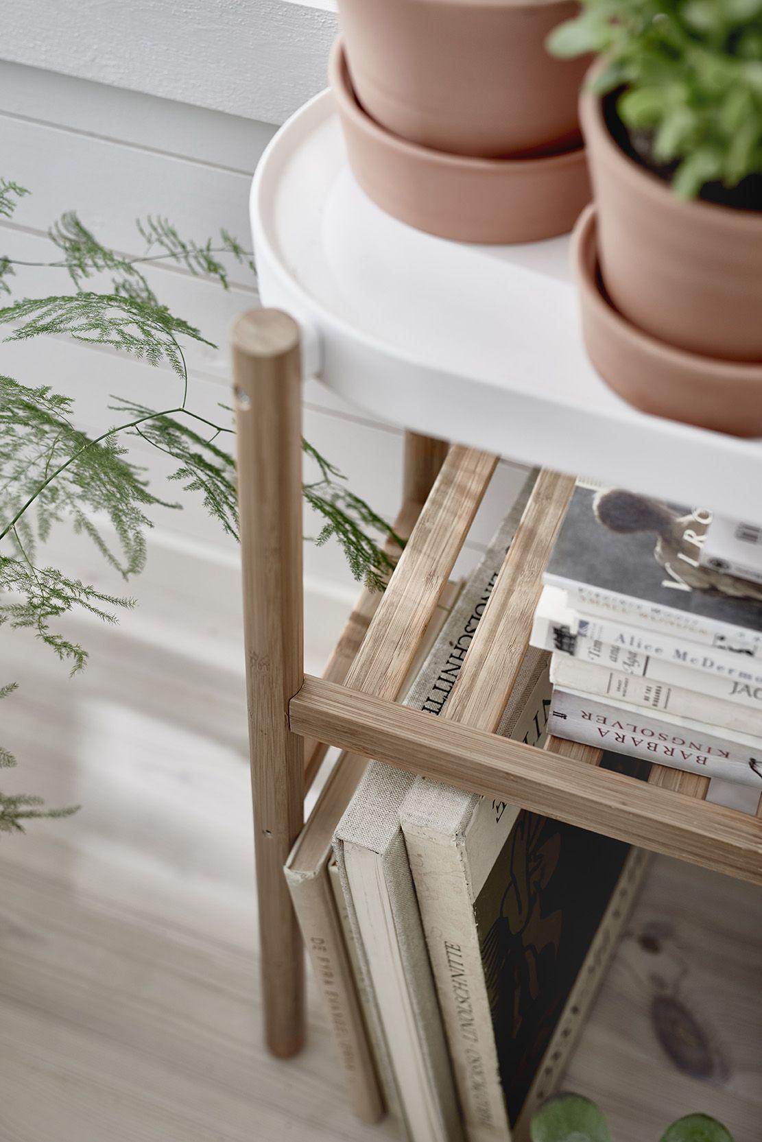 satsumas plantenstandaard nieuw ikea ikeanl bamboe staal