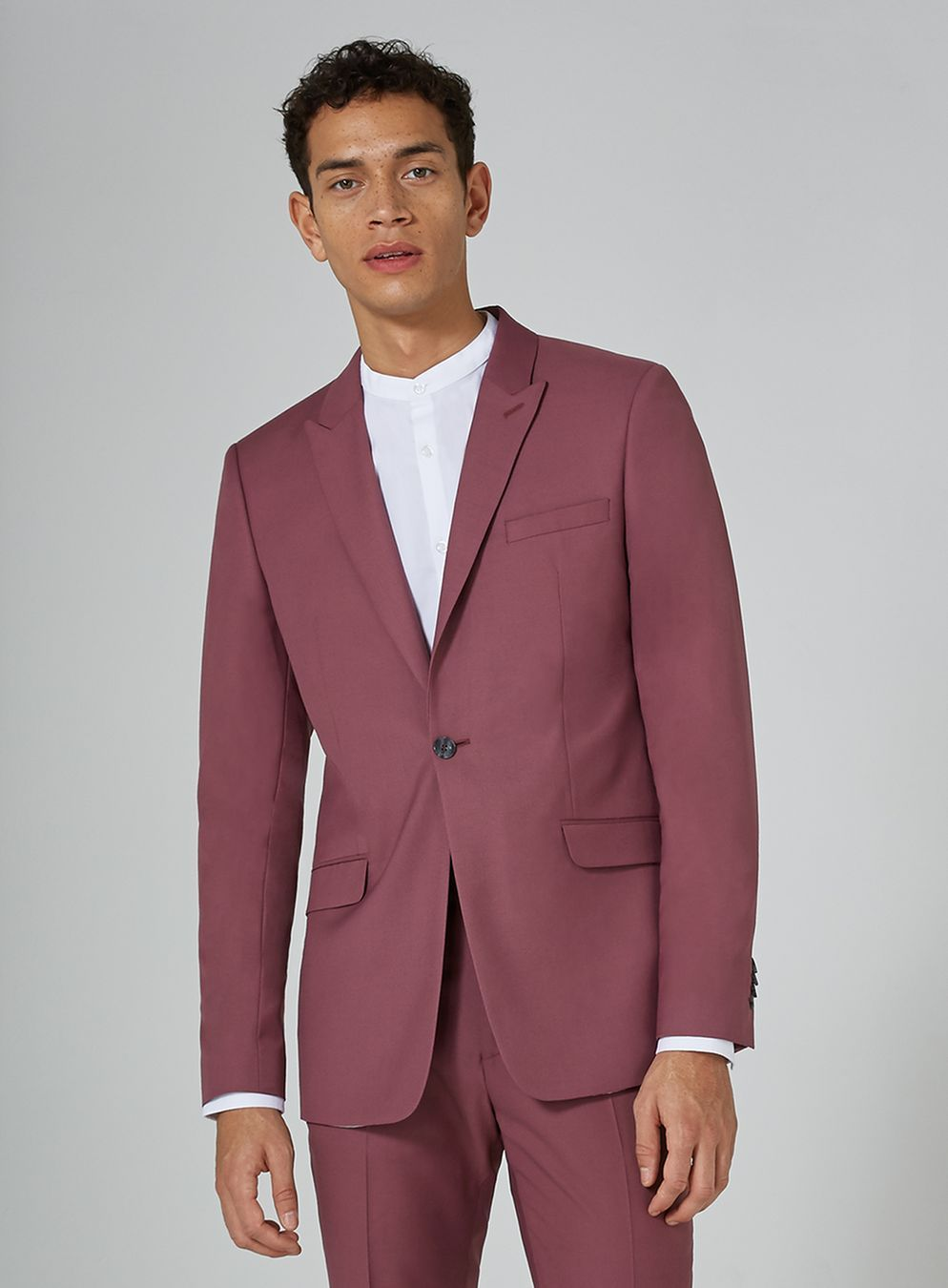 Mauve Skinny Fit Suit Jacket Skinny Fit Suits Stylish Mens Suits Fitted Suit