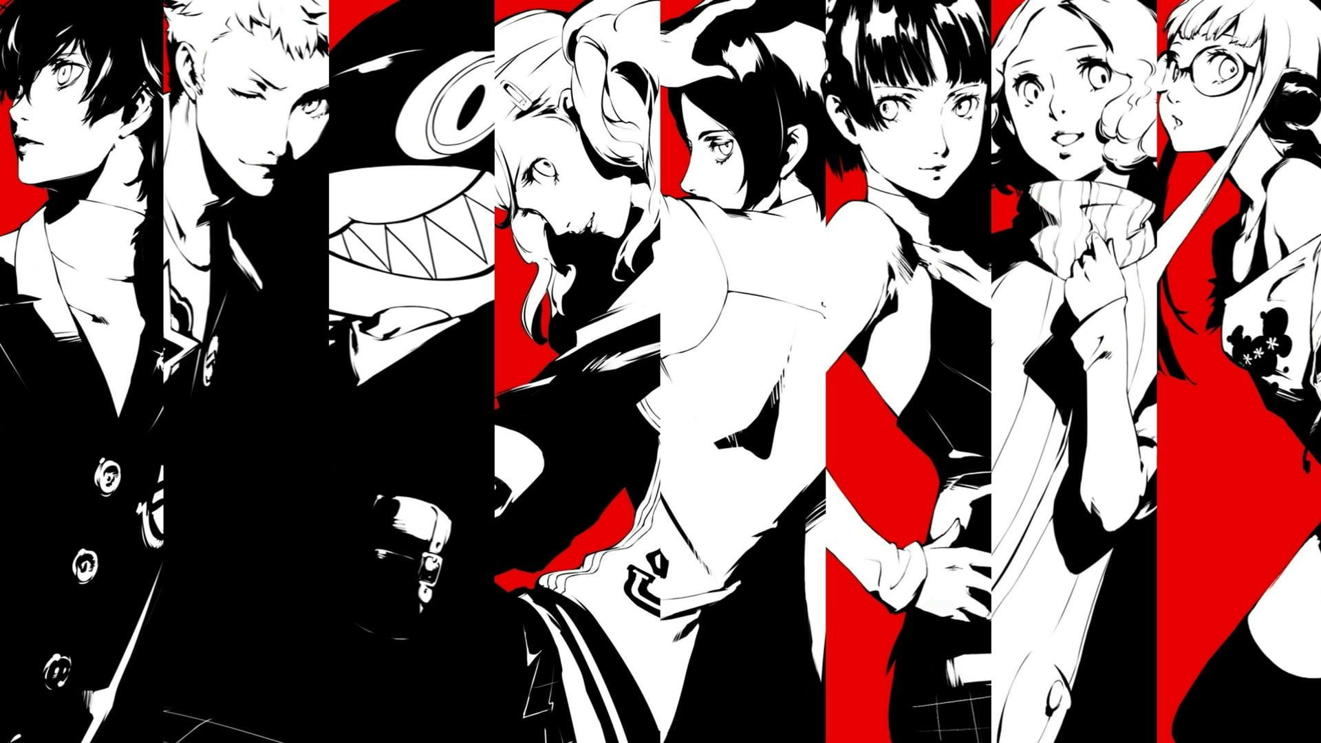 Persona Persona 5 Ann Takamaki Futaba Sakura Haru Okumura Joker Persona Makoto Niijima Morgana Persona Ryuji Sakamoto In 2020 Haru Okumura Persona 5 Persona 5 Ann