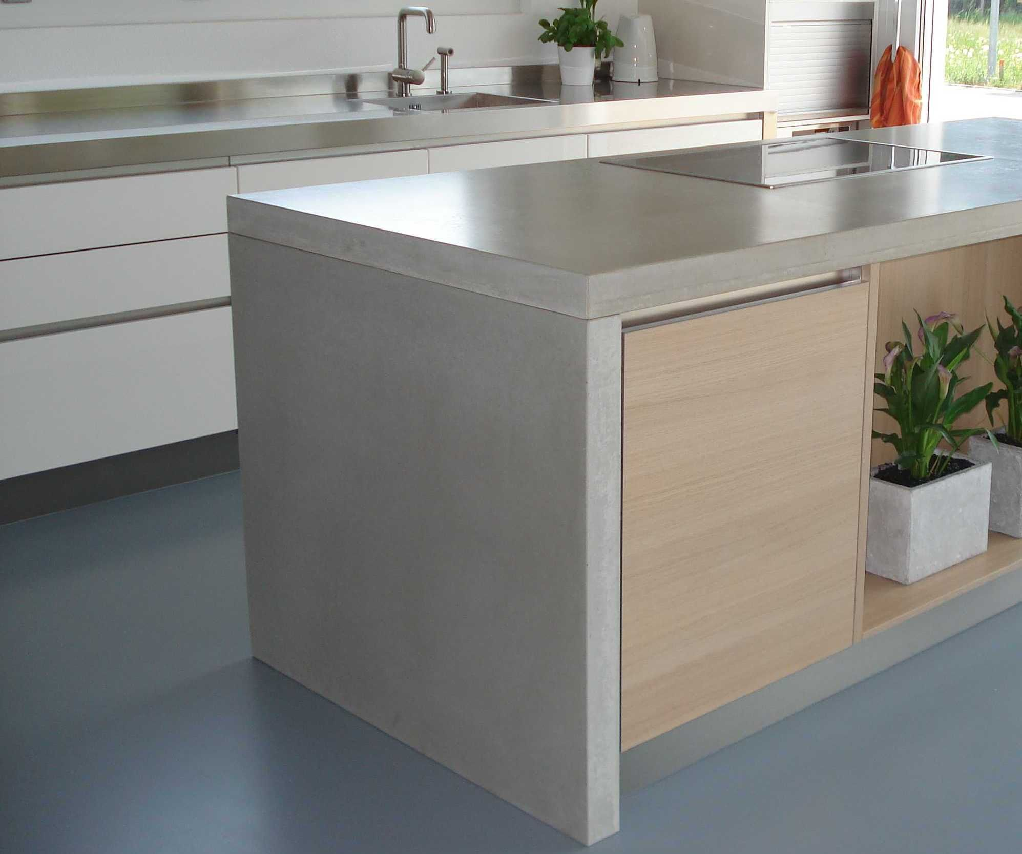 White Cabinet With Chrome Long Handles And Stainless Steel
