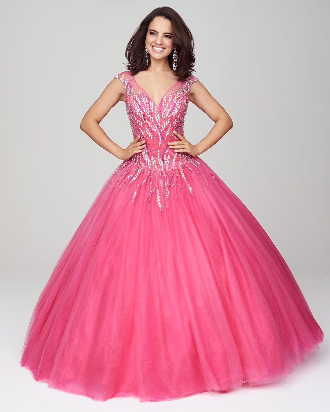 Vestidos de 15 anos largos color rosa (12) | Bodas de invierno ...