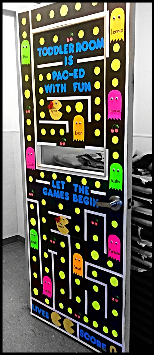 prodigious Pac Man Door Decoration Part - 3: Pac Man door theme