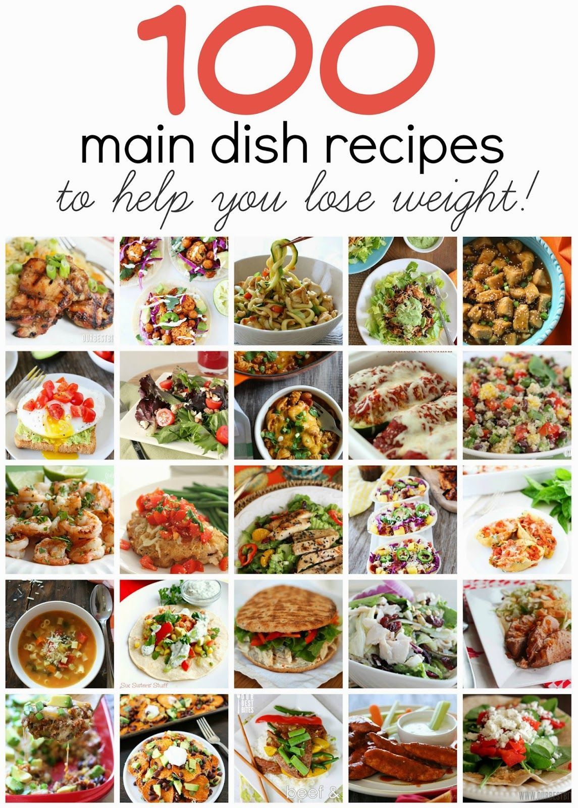 100 Healthy Main Dish Recipes To Help You Lose Weight These Are All So Amazi